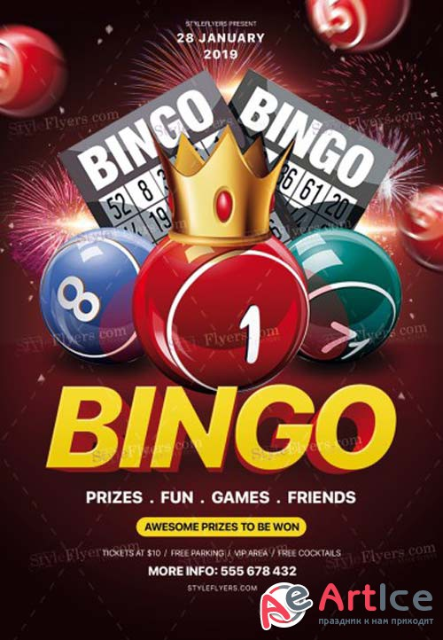 Bingo V1 2019 PSD Flyer Template