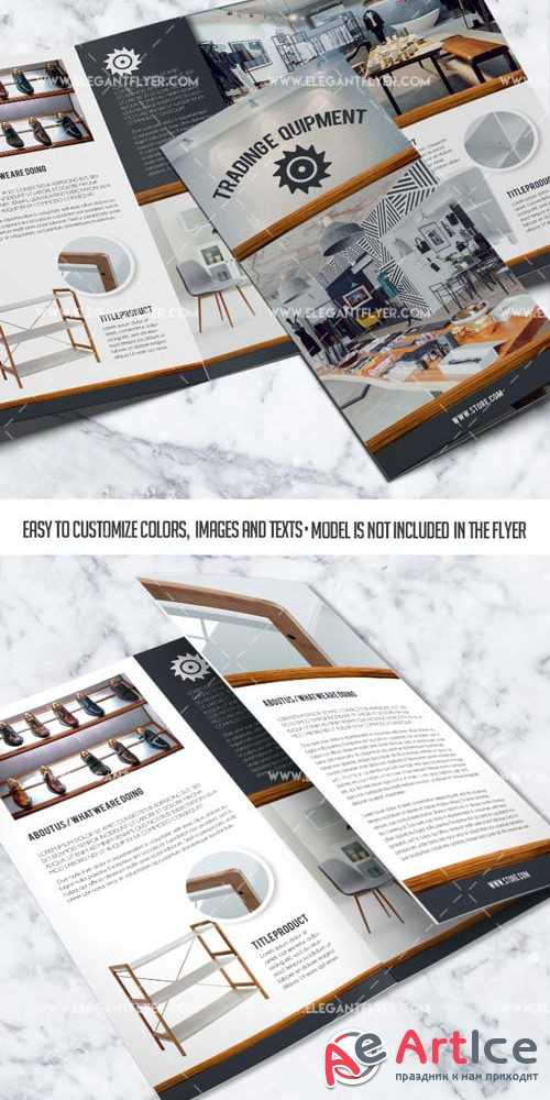 Trading equipment V1 2019 PSD Tri-Fold Brochure Template