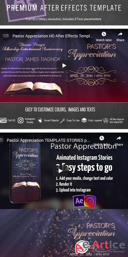 Pastor Appreciation V1 2019 Animated Flyer