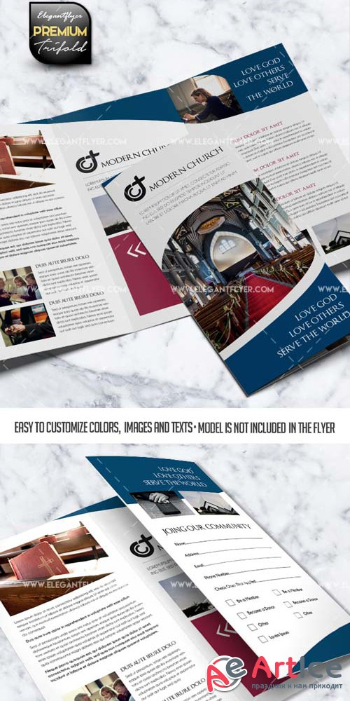 Modern Church V1 2019 PSD Brochure Template
