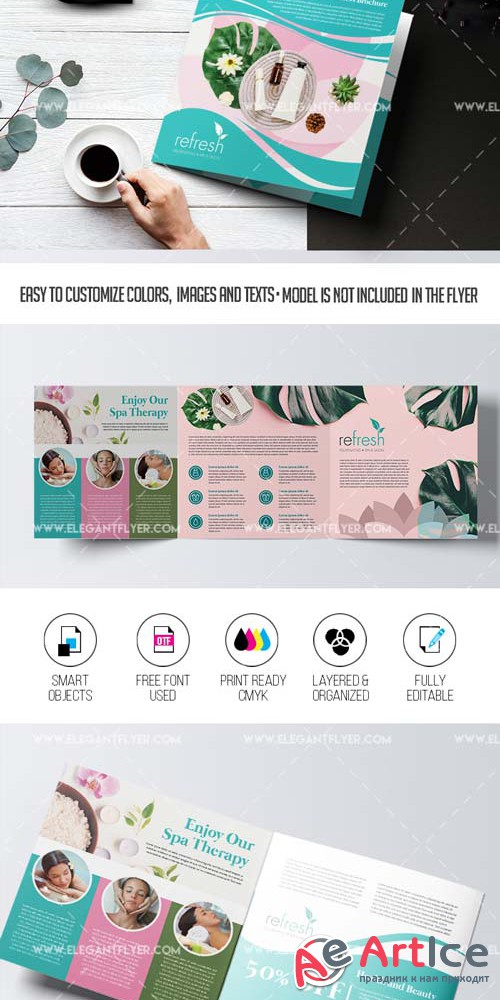 SPA Center V1 2019 PSD Brochure Template