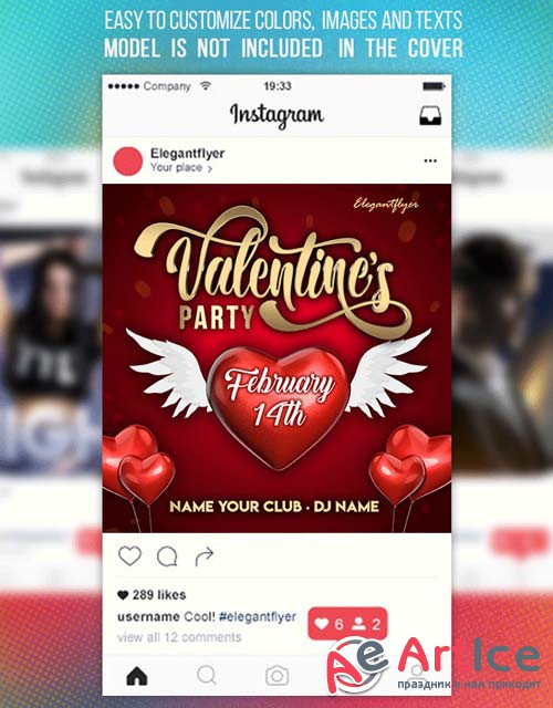 Valentines Party V20 2019 Animated Instagram + Facebook Flyer Template