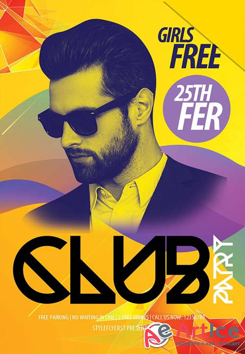 Club Patry V6 2019 Flyer Psd Template