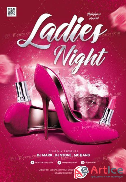 Ladies Night V10 2019 PSD Flyer Template
