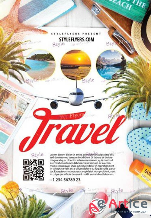 Travel V6 2019 PSD Flyer Template