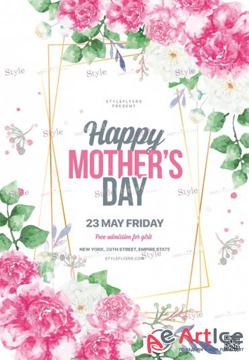 Mothers Day V3 2019 PSD Flyer Template