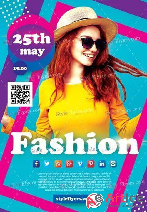 Fashion Flyer V1 2019 PSD Flye Template