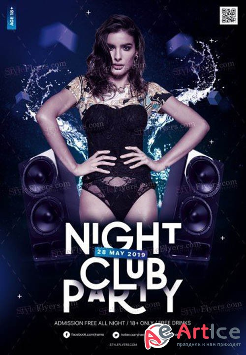Night Club Party V3 2019 PSD Flyer Template