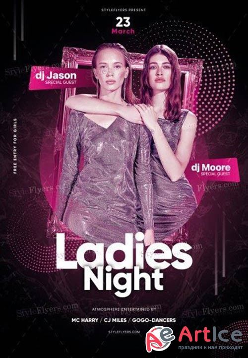 Ladies Night V15 2019 PSD Flyer Template