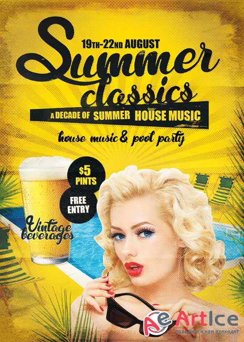 Summer Classics psd flyer template