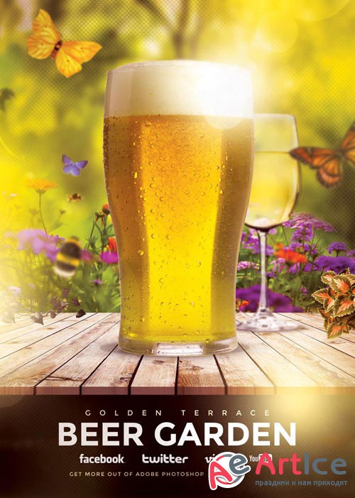 Beer Garden psd flyer template