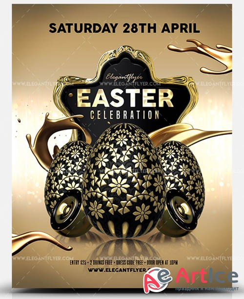 Easter Celebration V12 2019 PSD Flyer Template