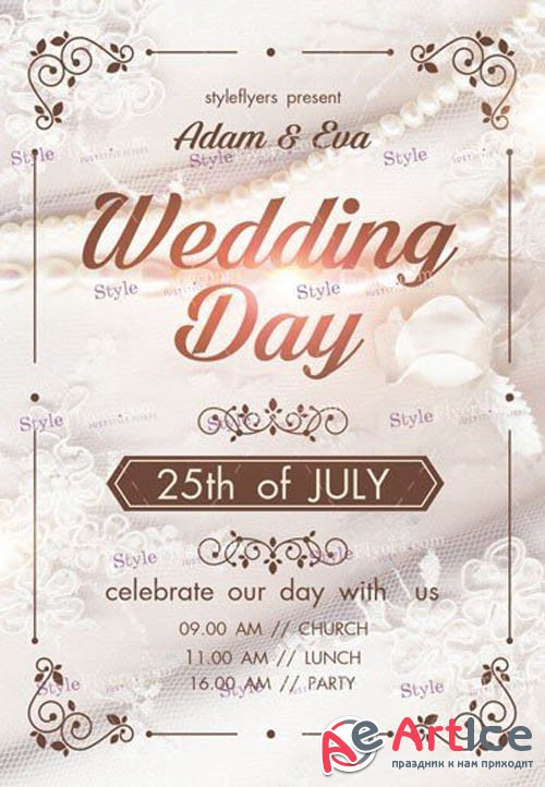 Weddind Day V11 2019 PSD Flyer Template