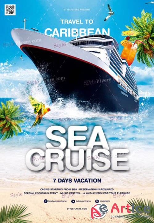 Sea Cruise V6 2019 PSD Flyer Template