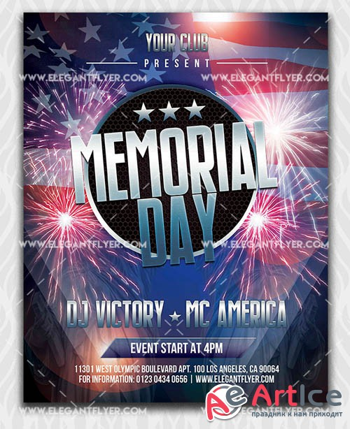 Memorial Day V11 2019 Flyer Template in PSD