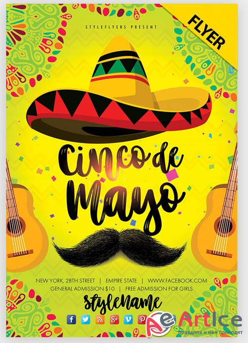 Cinco De Mayo V15 2019 PSD Flyer Template