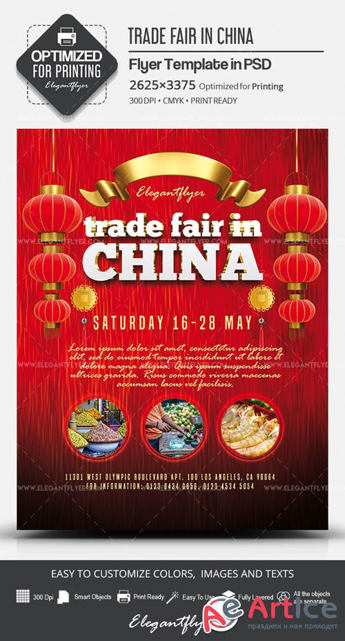 Trade Fair in China V1 2019 PSD Flyer Template