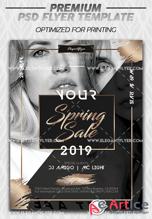 Spring Mid Sale V1 2019 PSD Flyer Template