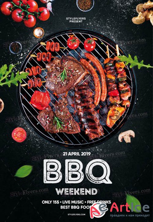BBQ V9 2019 PSD Flyer Template