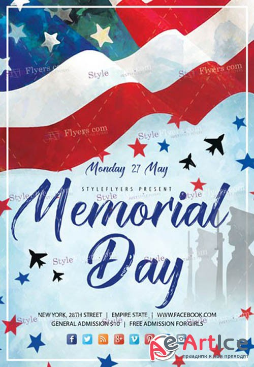 Memorial Day V16 2019 PSD Flyer Template