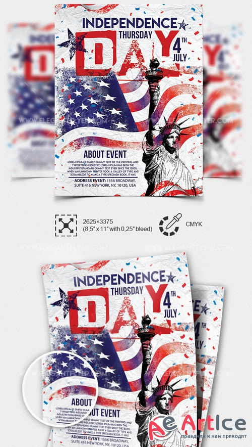 Independence Day V9 2019 Premium PSD Flyer Template