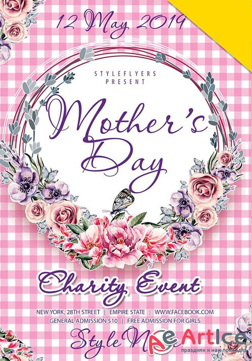 Mothers Day V25 2019 PSD Flyer Template