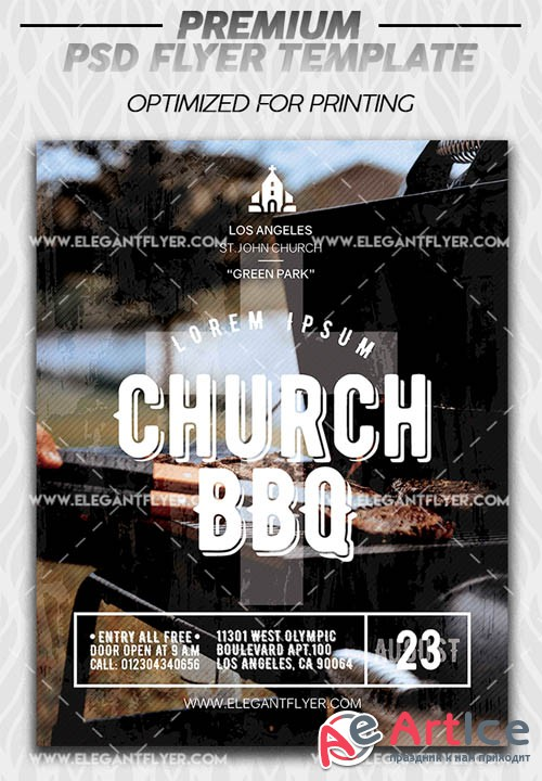 Church BBQ V1 2019 Premium PSD Flyer Template