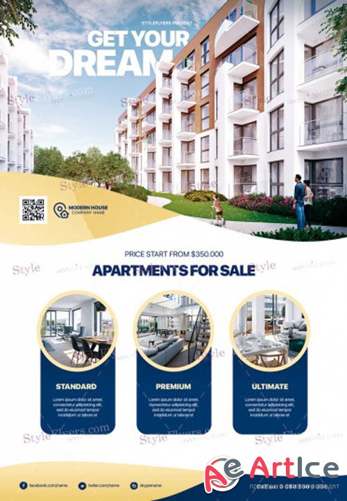 Real Estate V0208 2019 PSD Flyer Template
