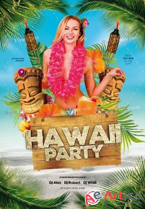Hawaii Party V0108 2019 PSD Flyer Template