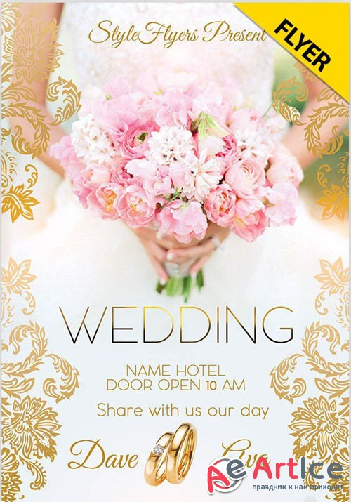 Wedding V0708 2019 Flyer PSD Template