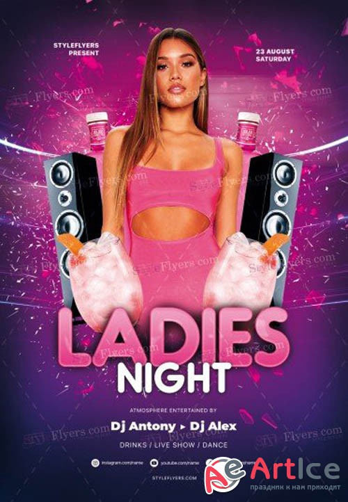 Ladies Night V0708 2019 PSD Flyer Template