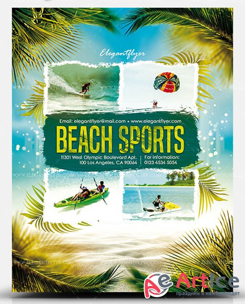 Beach Sports V0708 2019 PSD Flyer Template