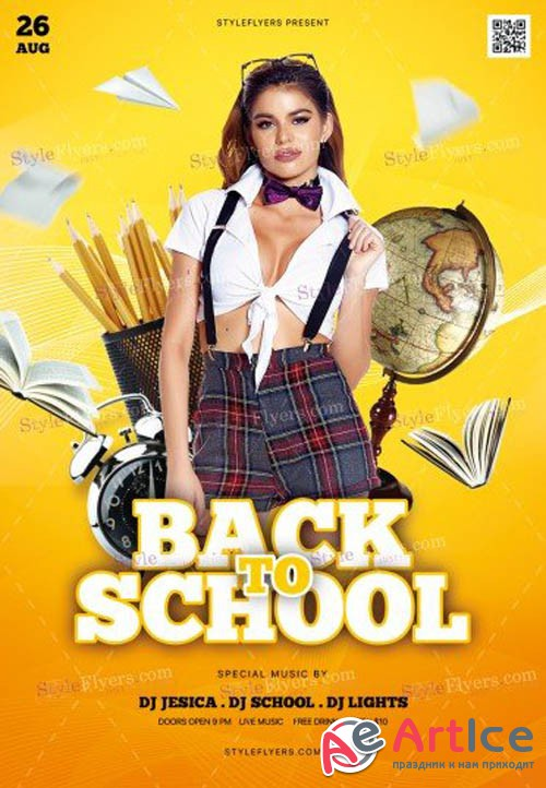 Back To School V1208 2019 PSD Flyer Template