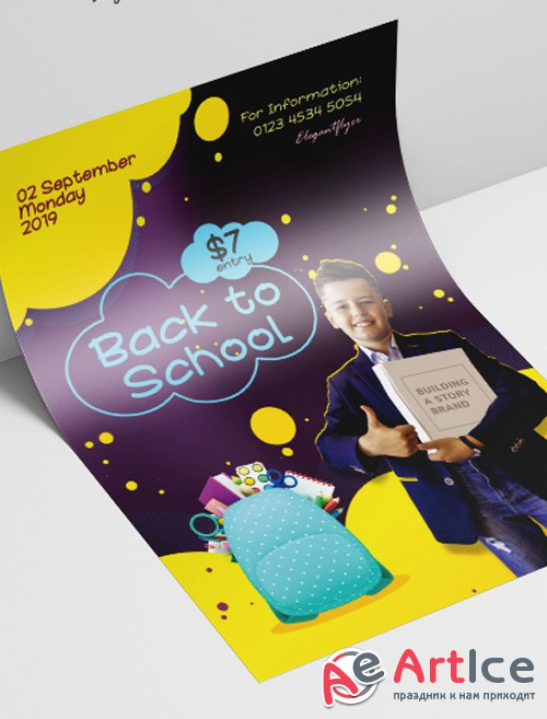Back to School V2308 2019 PSD Flyer Template