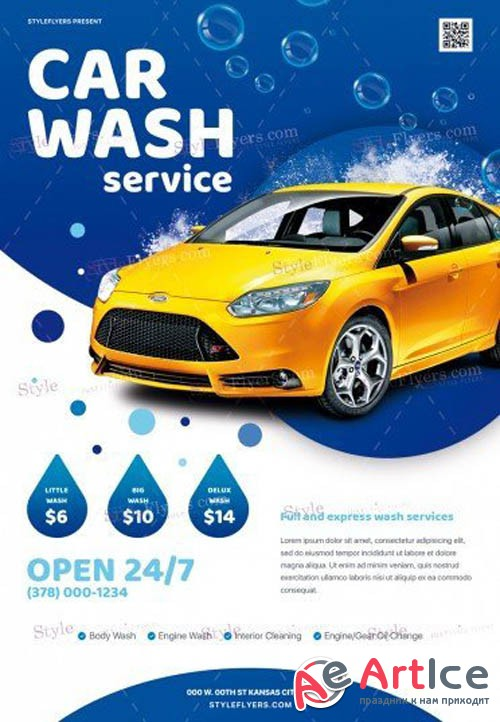 Car Wash Service V2908 2019 PSD Flyer Template