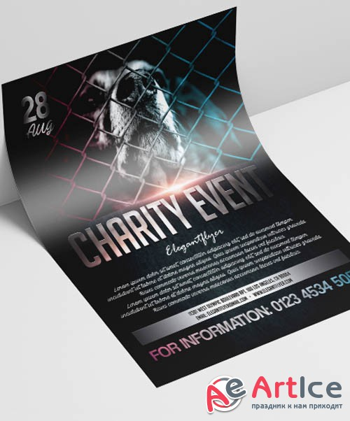 Charity Event V2908 2019 PSD Flyer Template