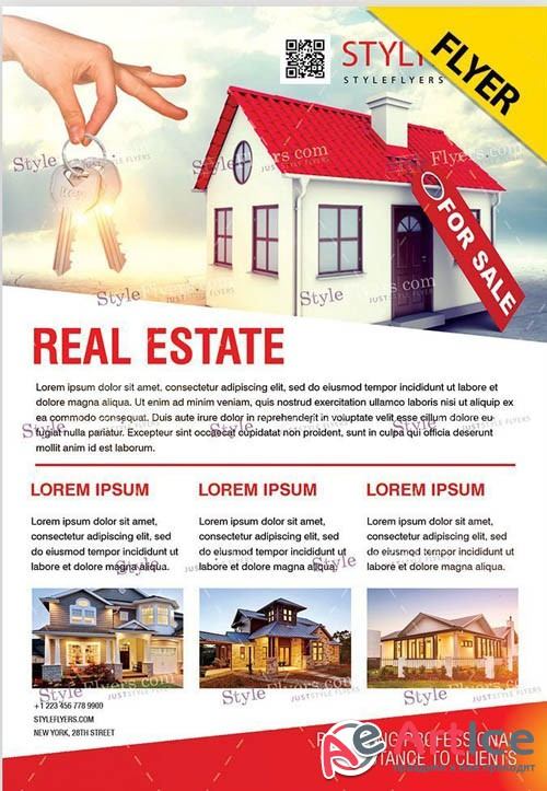 Real Estate V1709 2019 PSD Flyer Template