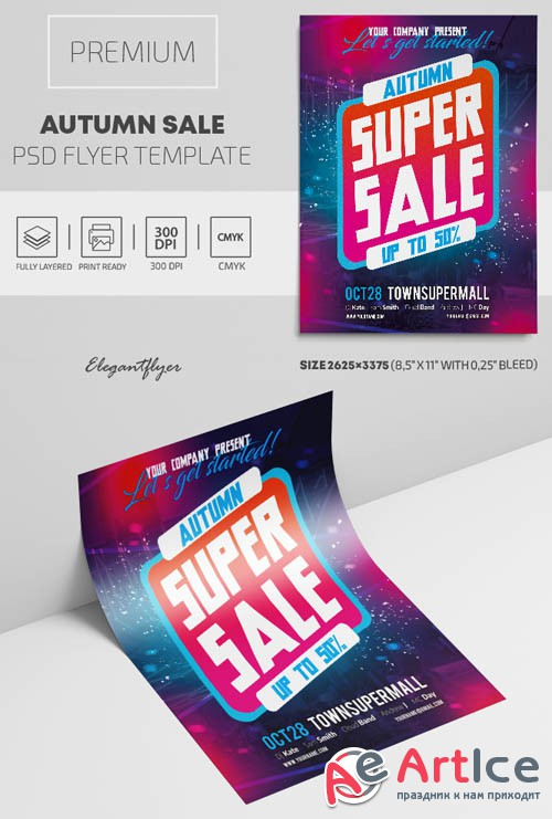 Autumn Sale V1809 2019 Premium PSD Flyer Template