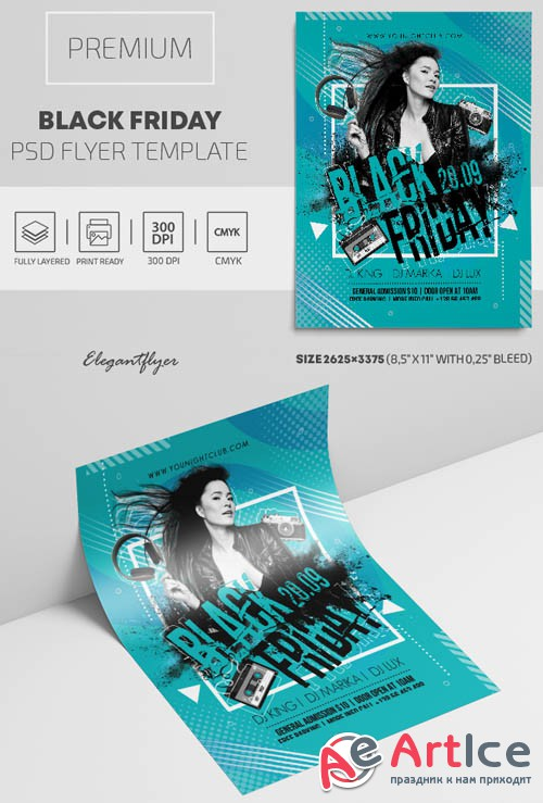 Black Friday V1809 2019 Premium PSD Flyer Template