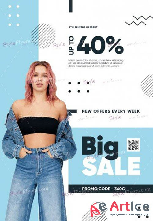 Sale V2309 2019 PSD Flyer Template