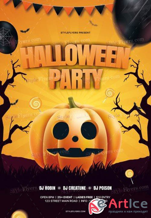 Halloween Party V2309 2019 PSD Flyer Template