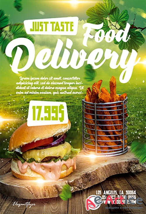Food Delivery V2709 2019 Premium PSD Flyer Template
