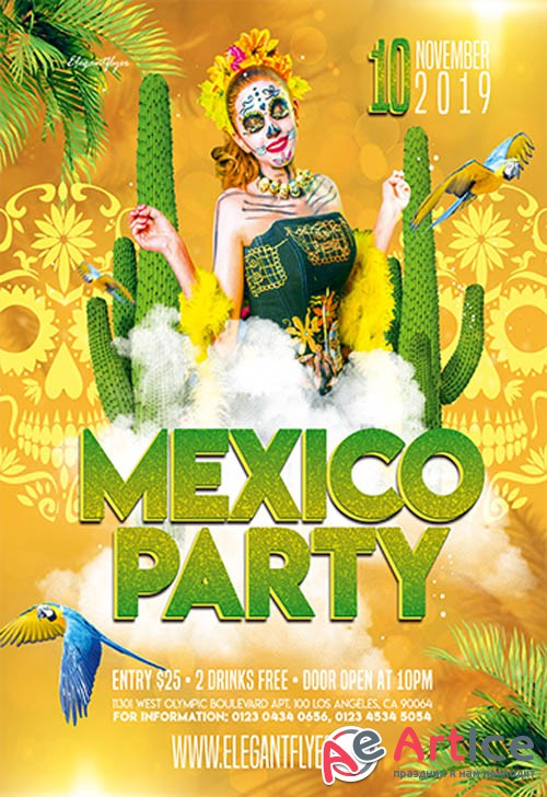 Mexico Party V0310 2019 Premium PSD Flyer Template