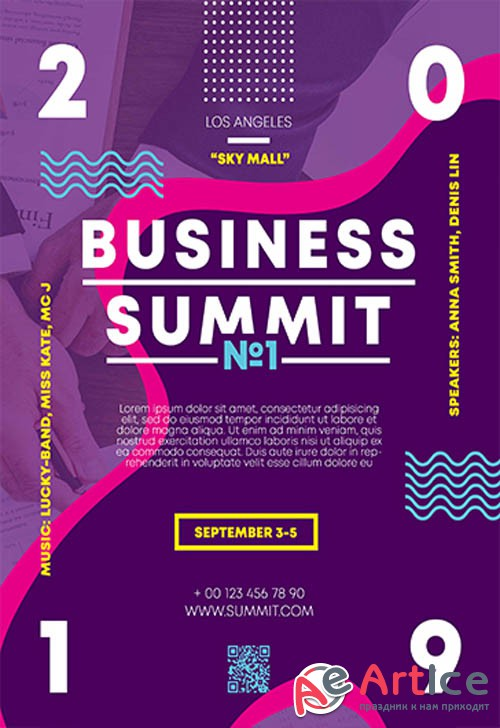 Business Summit V0210 2019 Premium PSD Flyer Template