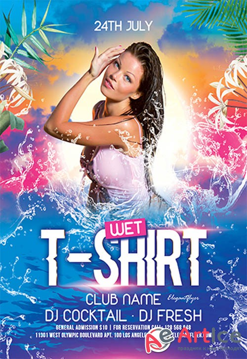 Wet T-Shirt Party V0910 2019 Premium PSD Flyer Template