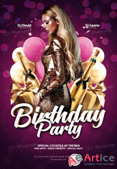 Birthday Party V0910 2019 PSD Flyer Template