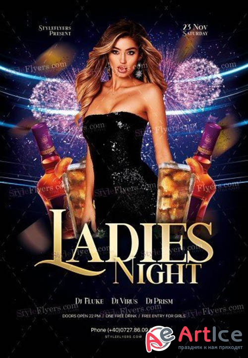 Ladies Night V1810 2019 PSD Flyer Template