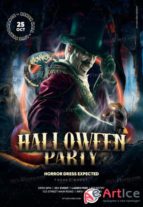 Halloween Party V2909 2019 PSD Flyer Template