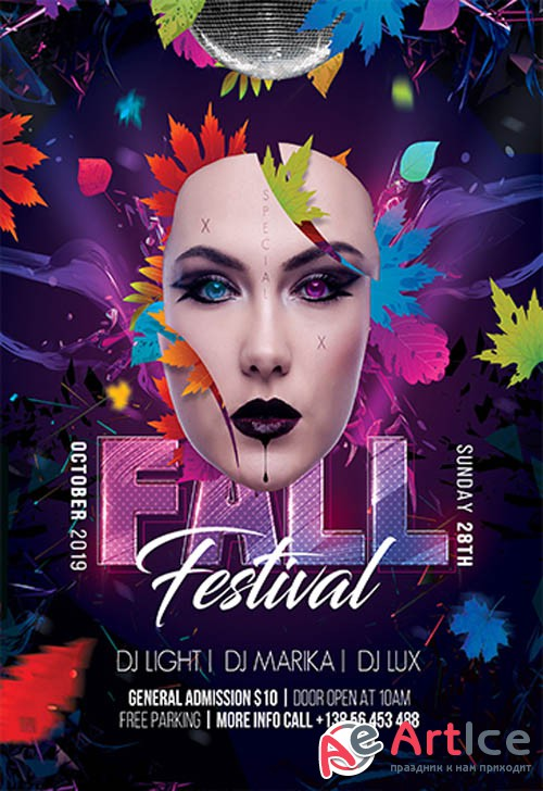 Fall Festival V3110 2019 Premium PSD Flyer Template