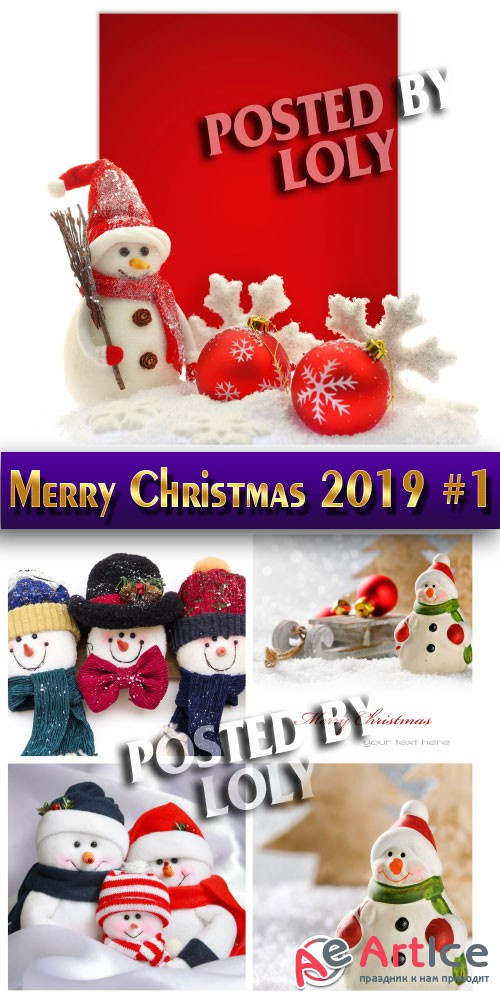 Merry Christmas 2019 #1 - Stock Photo
